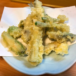 まっちゃん - 小鮎と春野菜の天ぷら