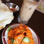 インド料理 チャダニー - サラダとアイスでチャイ