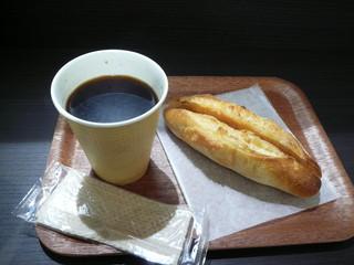 ル ビアン ルミネ横浜店 - ブレンドと横浜明太フランス