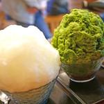 甘味処 相生 - レモン&抹茶金時かき氷