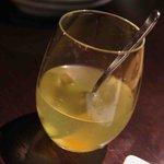 炭焼きBAR 倉庫 - サングリア(白)グラス