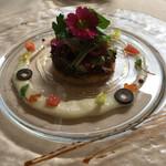 64302426 - 富山県産 ホタルイカとクスクスのサラダ仕立て 新タマネギのヴィネグレット♤ホタルイカと酸味旨味の効いたクスクスが美味しい(^^)♡