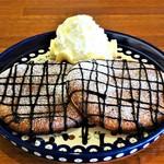 cafe T's+ - バナナとチョコのパンケーキ