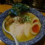 麺屋 きよたか - 鶏白湯そば全部のせ1000円