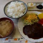 純喫茶マリーナ - ハンバーグライス800円