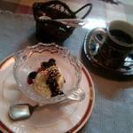 ステーキ&ワイン蔵 - コーヒーとアイスクリーム。