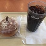 ドトールコーヒーショップ - アイスコーヒー(220円) ホイップボール(160円)