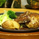 ステーキ宮 - 温野菜とハンバーグ、宮ロースカット