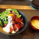クランチ - ローストビーフ丼