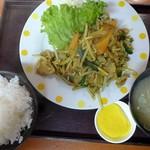 定食屋 ふか河 - 豚スタミナ炒め定食(カレー風味) 豚スタミナ炒め定食(カレー風味)