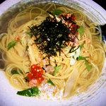フェデリーニ - 鮭の燻製のお茶漬け風パスタ。(写真はイメージです)