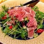金の水花 - 生ハムと彩り野菜のサラダ
