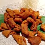 金の水花 - ホルモンのピリ辛味噌焼き