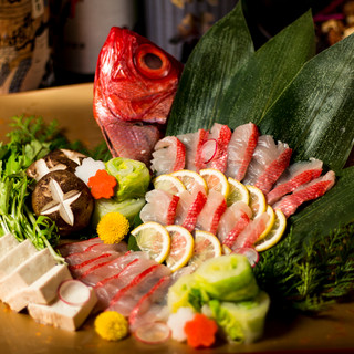 【鯛しゃぶコース】3時間飲放付料理8品5000円⇒3500円