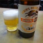 ときわ食堂 - ビールは、お店のルールにしたがい「11時半」までに飲み干しました