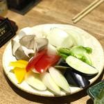 山王苑  - 野菜盛り合わせ