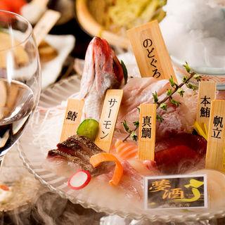 【築地直送の新鮮魚介】夢酒★宝石箱~高級鮮魚お造り盛合わせ~
