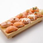 板前寿司 - サーモンづくしセット