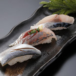 光物3貫セット / Silver Skinned Fish Nigiri 3 pieces