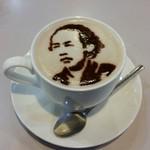 霧島峠茶屋 - ドリンク写真:ココアパウダーで坂本龍馬♪