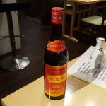 上海屋台 - 女児紅の紹興酒をボトルで