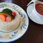 サロンドカフェアンジュ  - 山崎牧場豚肉トマト煮ライス  ¥900  ☆☆