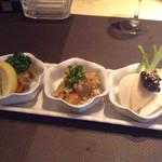 マミーズタミー - 前菜3種盛り合わせ(800円)