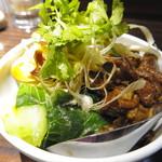 裏路地酒場 アジア麺 樹 - ルーロー飯(420円:税抜)