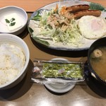 やよい軒 - 料理写真:目玉焼朝食 460円(税込)