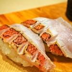 太郎寿司 - 金目鯛(塩レモン)