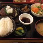 大阪満マル - おろしハンバーグ定食(御飯大盛)