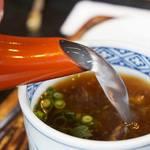 三瀬そば - 蕎麦湯。