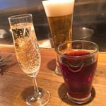 キャトルラパン 神戸三宮 - 最初に乾杯♪