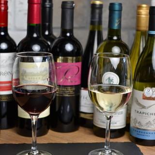 ワインは290円、生ビール390円~ご用意しております!