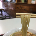 銀座一福 本店 - 好みのストレート麺です。