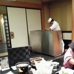 64376826 - 個室で天ぷら実演