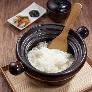 炊き立て「土鍋ごはん」が人気