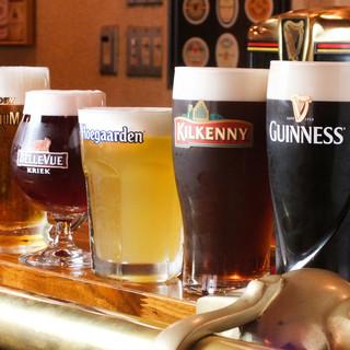 最高基準のギネス、クラフトビールは注文必須!樽生ビールが充実