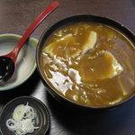 味処ふる川 - カレー南うどん(740円)