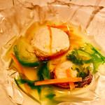 64383512 - ○芽キャベツとハマグリのスープ様