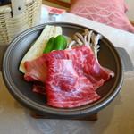 64387174 - 陶板焼き御膳の肉