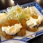 和・食 陽・食 伊豆屋 - ある日の本日のランチ カキフライアップ