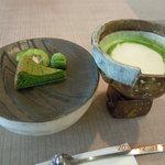 ハチラボ - 「抹茶のガトーショコラ(抹茶ソルベ付き)」300円