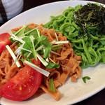 64391564 - 《ほうれん草とトマトのつけ麺》830円                       2017/3/24