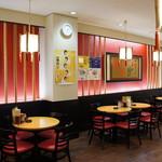赤穂らーめん麺坊 - 綺麗で広い店内です(2017.3.24)