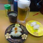 廻る寿し 祭り - 瀬戸内産ふぐと真つぶ貝と生ビール