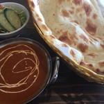 カマナ・ナン・カレーハウス - キーマカレーのランチセット。アフタードリンクも付いて税込¥830~と良心的な値段設定なのに、本格来なインド料理が楽しめます。