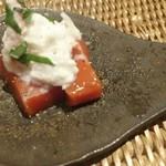 かわ村 - フルーツトマトの葛豆腐