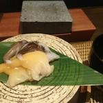 かわ村 - とり貝とアオヤギの石焼