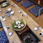 山女庵 - 囲炉裏テーブル
